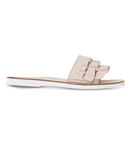 DUNE Laria suede sandals (Blush-suede