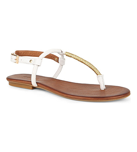 DUNE Jas thong sandals (White-leather
