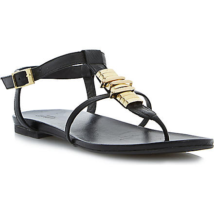 DUNE Jax leather sandals (Black-leather