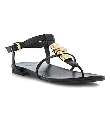DUNE Jax leather sandals (Black-leather