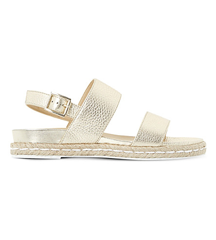 DUNE Lacrosse slingback metallic leather sandals (Gold-leather