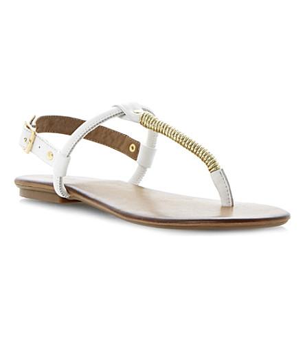 DUNE Jamba toe post sandals (White-leather