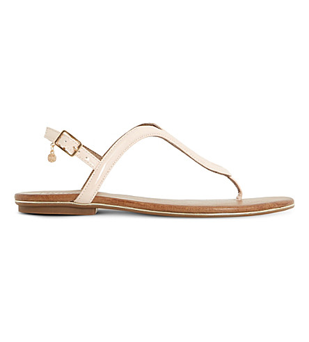 DUNE Lexy Loop patent sandals (Nude-patent