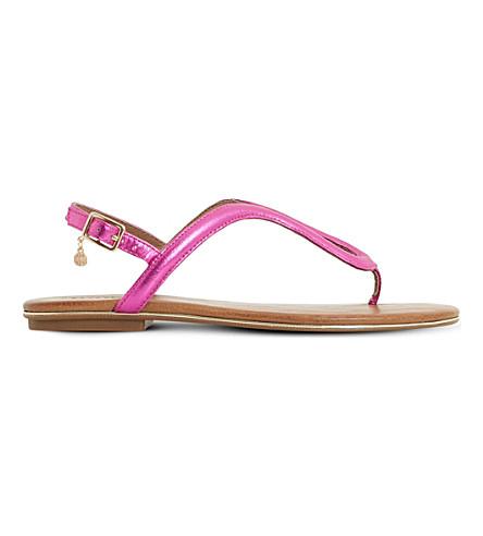 DUNE Lexy Loop patent sandals (Purple-metallic