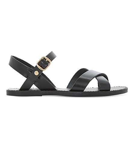 DUNE Laila leather sandals (Black-leather