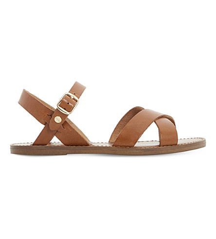 DUNE Laila leather sandals (Tan-leather