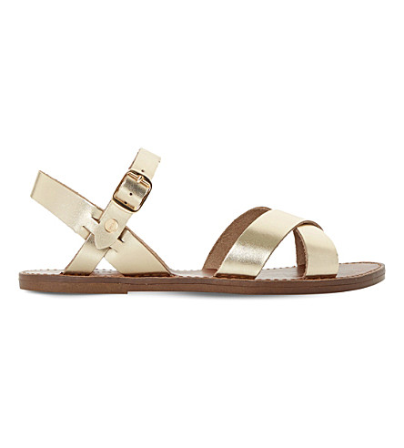 DUNE Laila leather sandals (Gold-leather