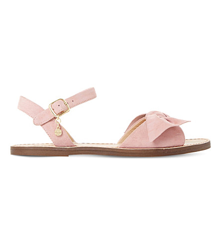 DUNE 逖绒面革蝴蝶结凉鞋 (粉红色麂皮绒