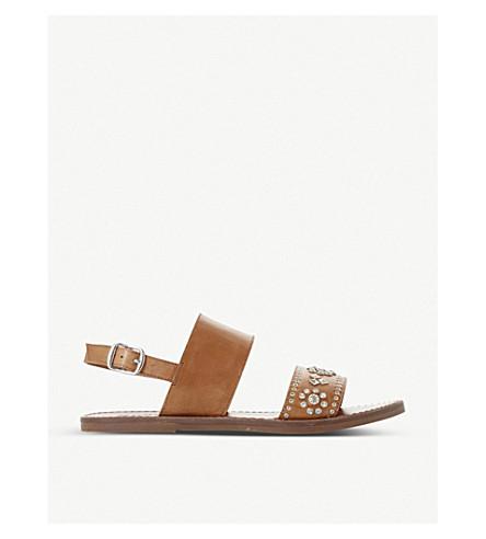 DUNE Luma 装饰皮革 slingback 凉鞋 (棕褐色皮革