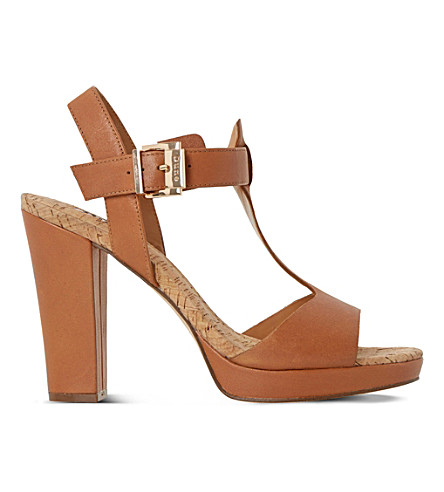 DUNE Ismin leather heeled sandals (Tan-leather