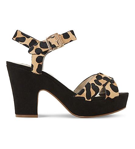 DUNE Iyla ponyhair leopard-print platform sandals (Leopard-pony