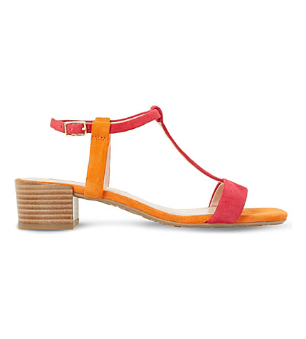 DUNE Issie T-bar suede sandals (Multi-suede