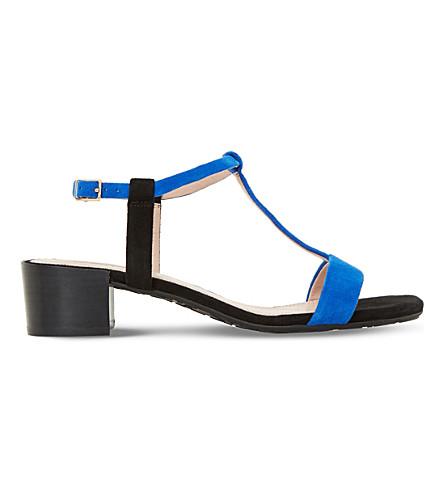 DUNE Issie T-bar suede sandals (Black