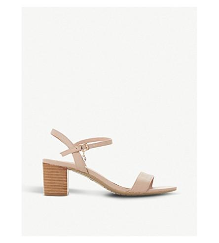 DUNE Jiggle leather block-heeled sandals (Nude-leather