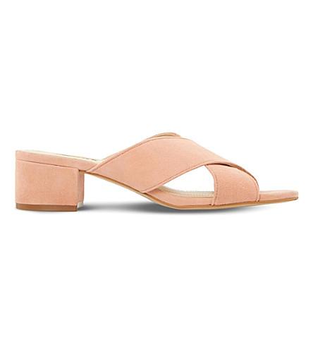 DUNE Junipar suede mule sandals