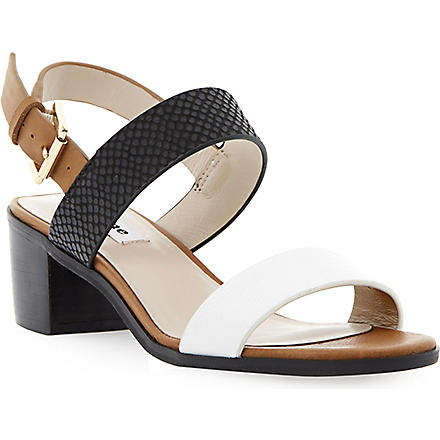 DUNE Finchy leather strap sandals (Tan-leather