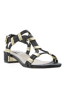 DUNE Faith leather heeled sandals