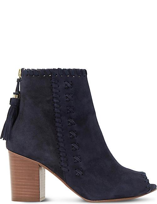 Dune petrie black leather ankle boot women bootsdune cheap lanelle lace up  flatshightech materials