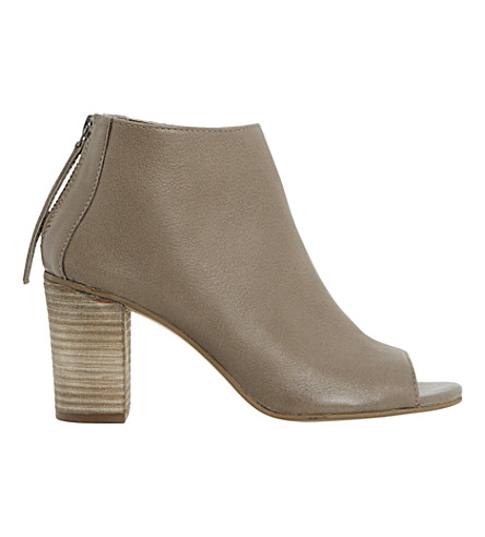 DUNE Joyfull peep-toe ankle boots (Grey-leather