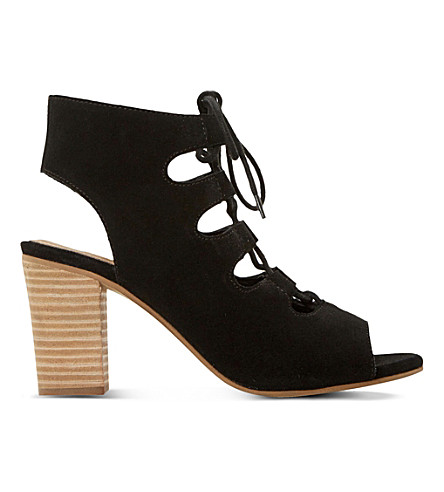 DUNE Jamima suede ankle boots (Black-suede