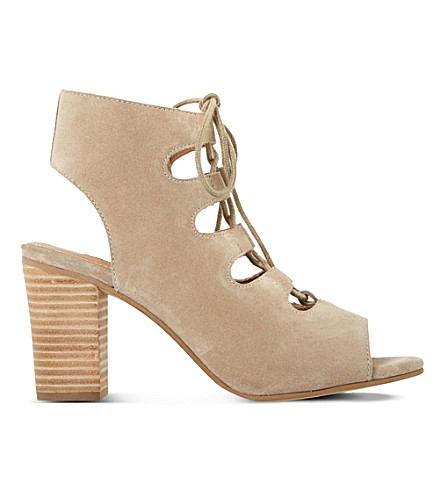 DUNE Jamima suede ankle boots (Stone-suede
