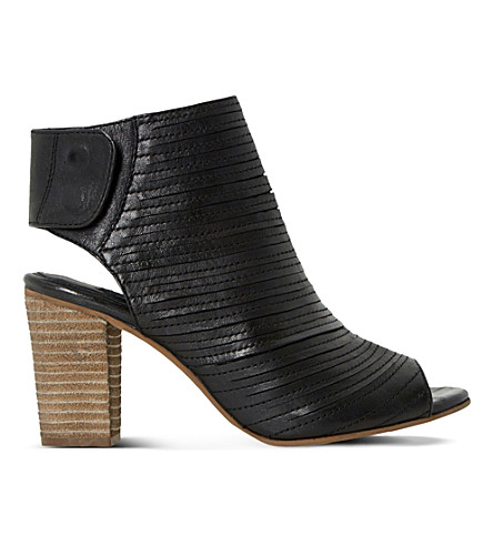 DUNE Jayda leather ankle boots (Black leather