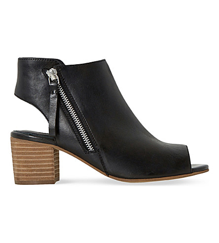 DUNE Joselyn leather ankle boots (Black leather