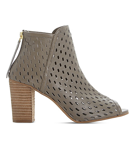DUNE Iola perforated leather sandals (Taupe-leather
