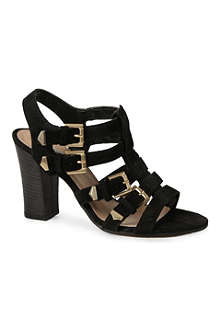 DUNE Fellow suede multi-buckle sandals