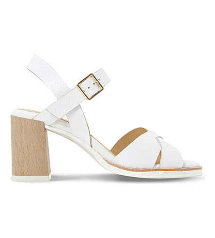 DUNE Judo leather heeled sandals