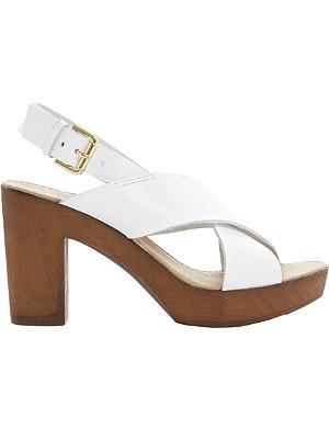 DUNE Fraggel clog-effect heeled sandals