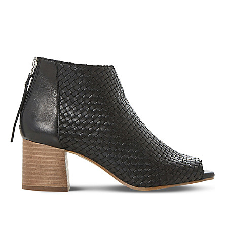 DUNE Idoll leather heeled ankle boots (Black-leather