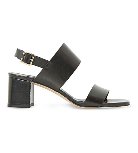 DUNE Jester leather heeled sandals