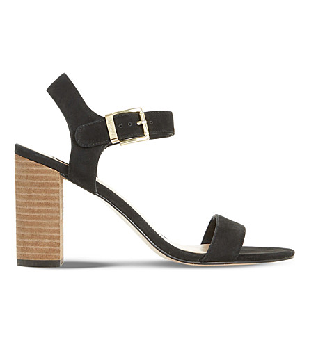DUNE Isobel nubuck sandals (Black-nubuck
