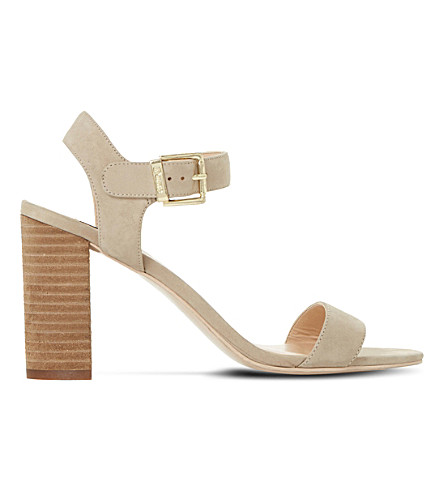 DUNE Isobel nubuck sandals (Natural-nubuck