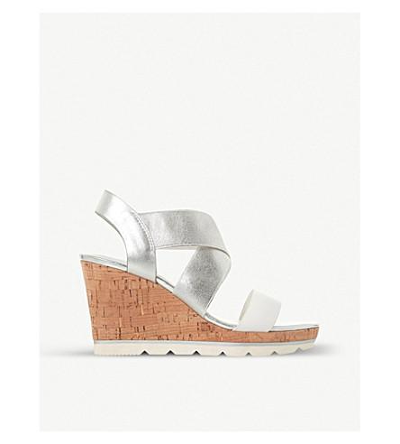 DUNE科斯金属楔形凉鞋 (白色