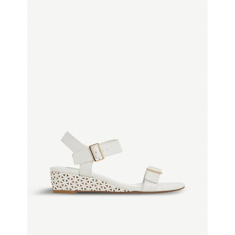 DUNE Karinaa laser cut wedge sandals