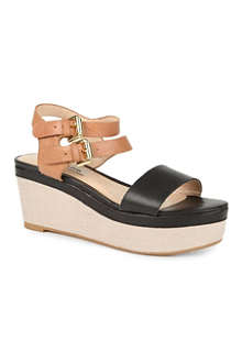 DUNE Glaze two-tone wedge sandals