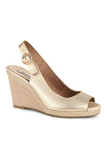 DUNE Gleeful wedge sandals