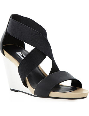 DUNE Georgey colourblock wedge sandals