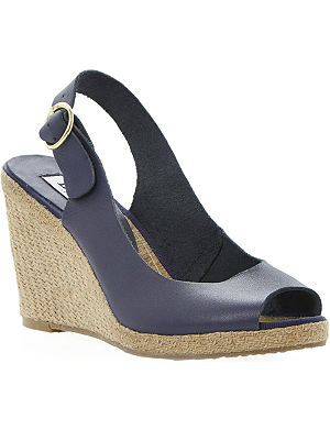 DUNE Gleeful leather wedge sandals