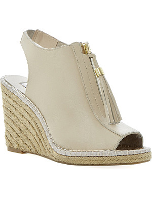 DUNE Gretal espadrille wedge sandals
