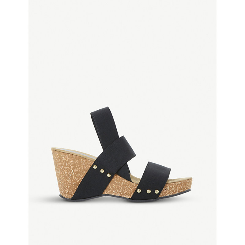 Kassii studded cork-wedge sandals