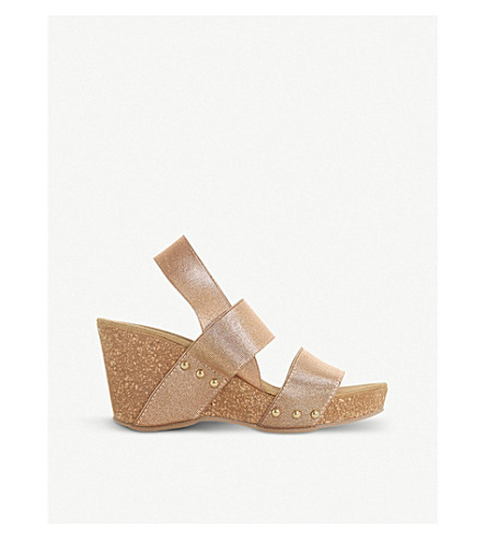 Kassii - cork wedge studded mule sandal
