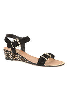 DUNE Geesha wedge sandals