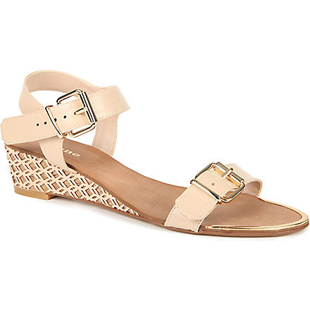 DUNE Geesha wedge sandals (Blonde-leather