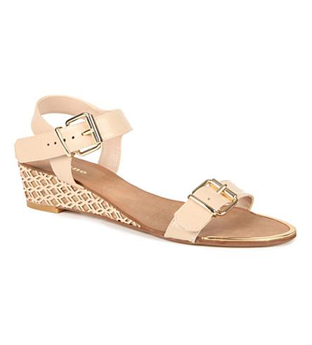 DUNE Geesha wedge sandals (Blonde-leather