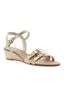 DUNE Gail buckle wedge sandals