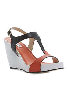 DUNE Giselle T-bar wedge sandals