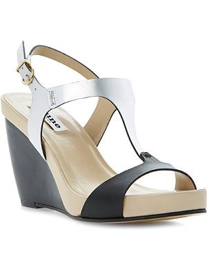 DUNE Giselle T-bar wedge sandals